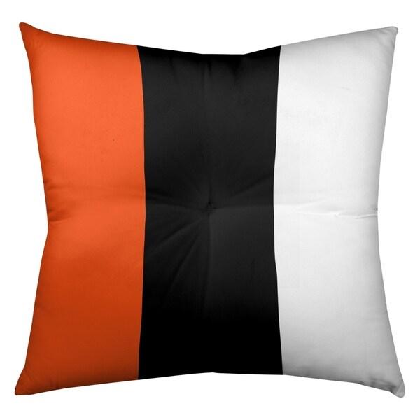 Cincinnati Cincinnati Football Stripes Floor Pillow - Square Tufted