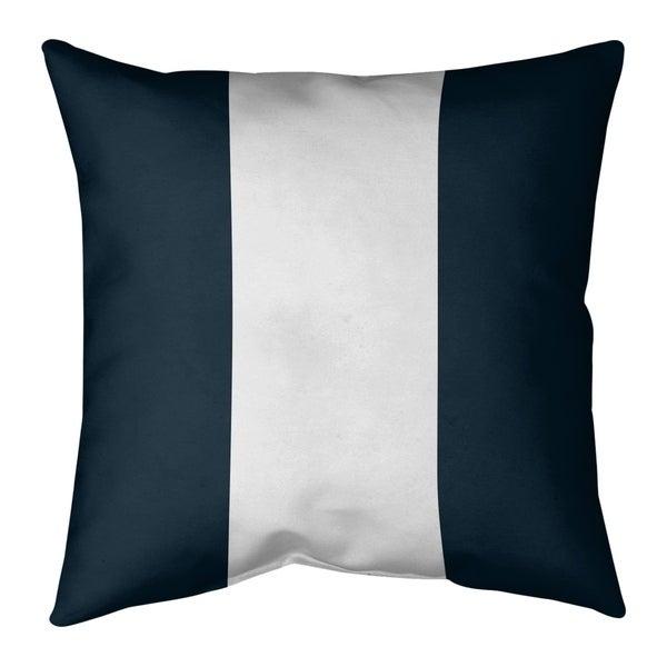 Chicago Chicago Throwback Football Stripes Pillow-Cotton Twill