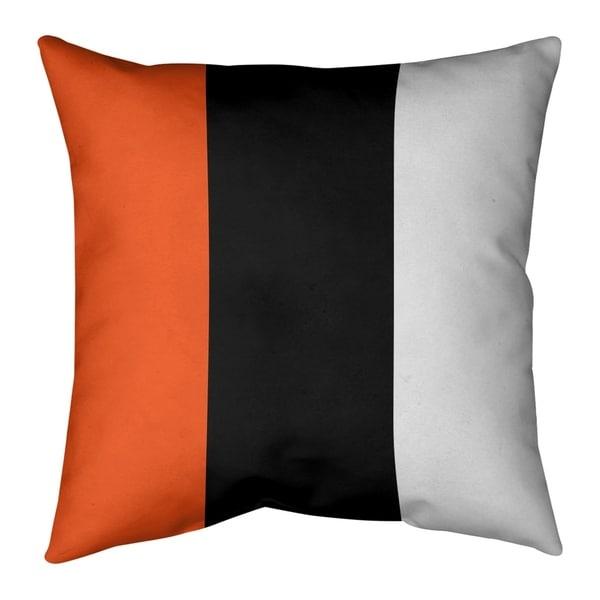 Cincinnati Cincinnati Football Stripes Pillow (Indoor/Outdoor)