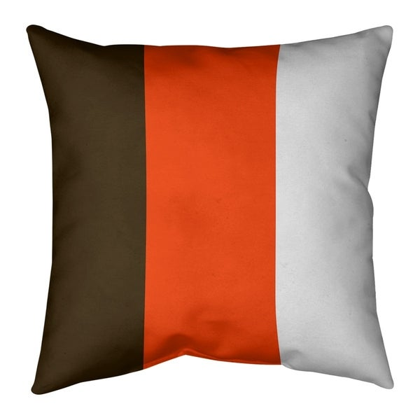 Cleveland Cleveland Football Stripes Pillow-Faux Linen