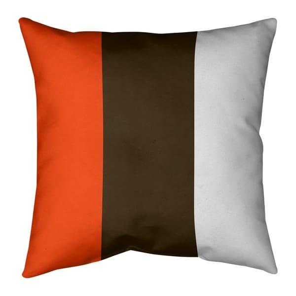 Cleveland Cleveland Football Stripes Pillow-Faux Linen