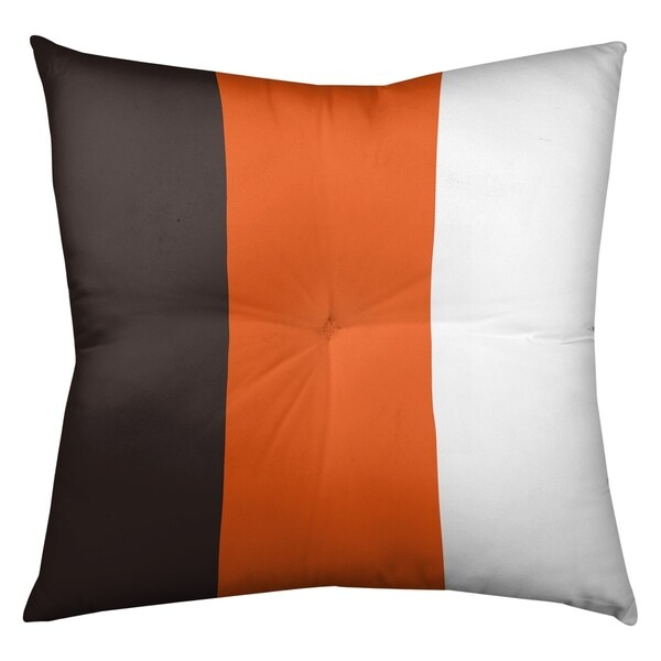 Cleveland Cleveland Throwback Football Stripes Floor Pillow - Square Tufted