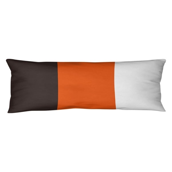 Cleveland Cleveland Throwback Football Stripes Body Pillow (w/Rmv Insert)