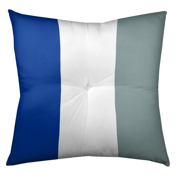 Dallas Dallas Football Stripes Floor Pillow - Square Tufted
