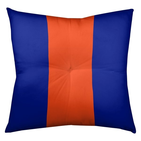 Denver Denver Throwback Football Stripes Floor Pillow - Square Tufted