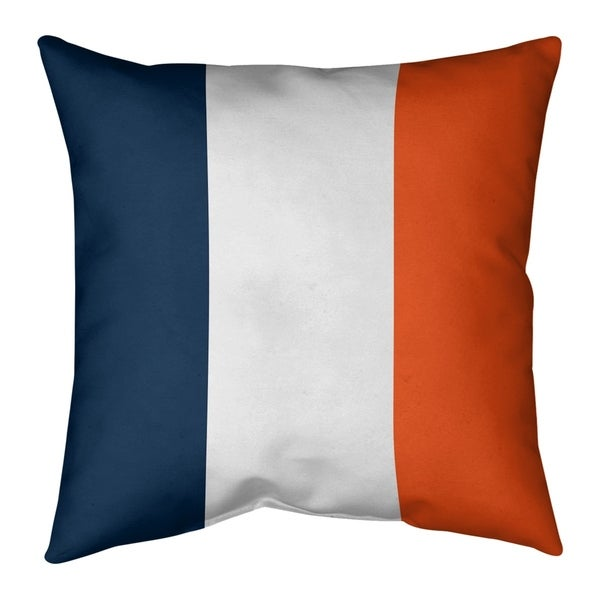 Denver Denver Football Stripes Pillow-Faux Suede