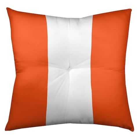 Denver Denver Football Stripes Floor Pillow - Square Tufted