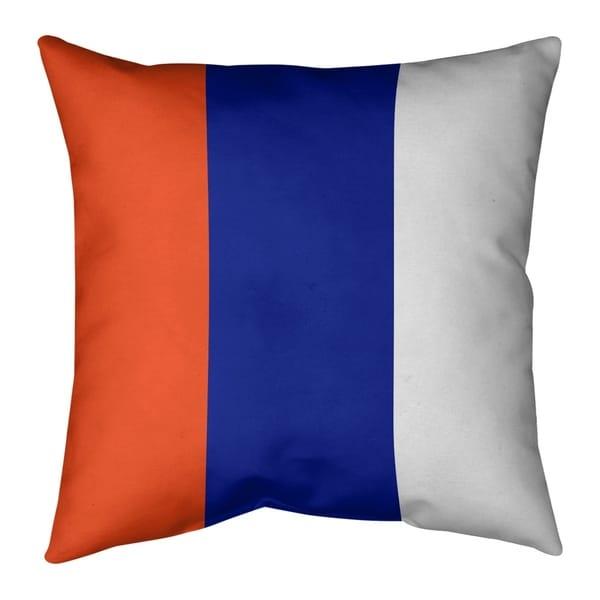 Denver Denver Throwback Football Stripes Pillow (Indoor/Outdoor)