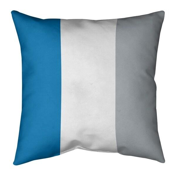 Detroit Detroit Football Stripes Floor Pillow - Standard