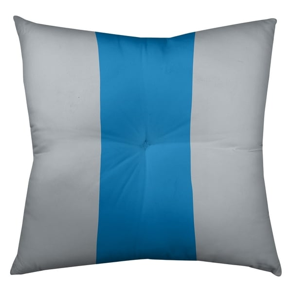 Detroit Detroit Football Stripes Floor Pillow - Square Tufted