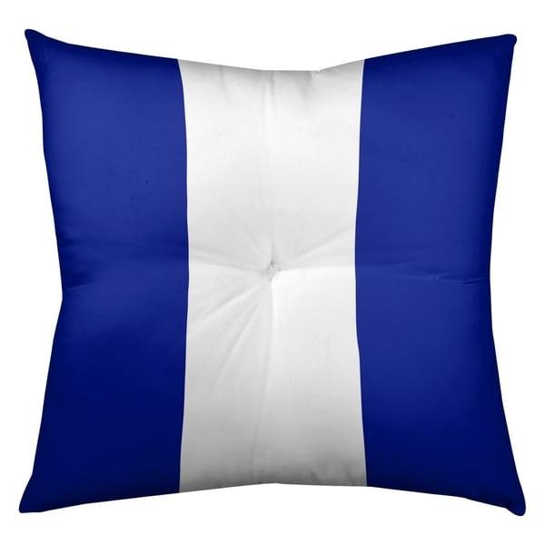 Denver Denver Throwback Football Stripes Floor Pillow - Square Tufted