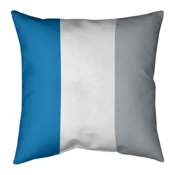 Detroit Detroit Football Stripes Pillow-Faux Linen