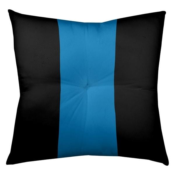 Detroit Detroit Football Stripes Floor Pillow - Square Tufted