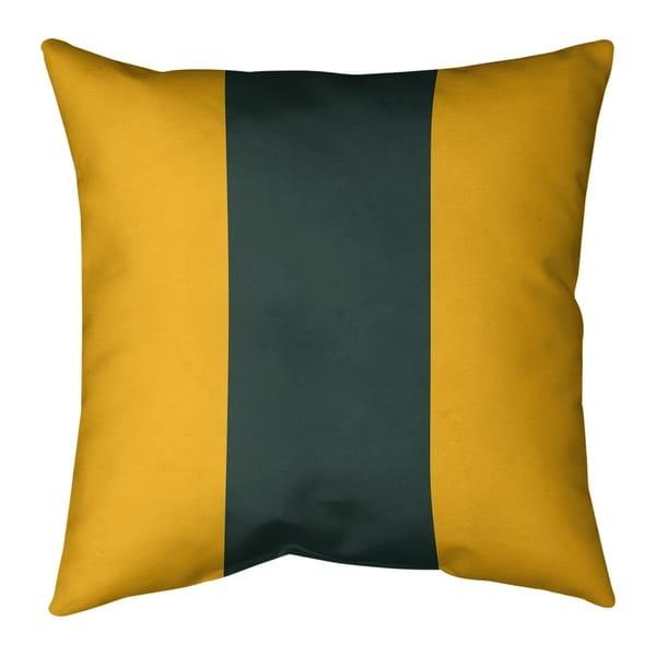 Green Bay Green Bay Football Stripes Pillow-Spun Polyester