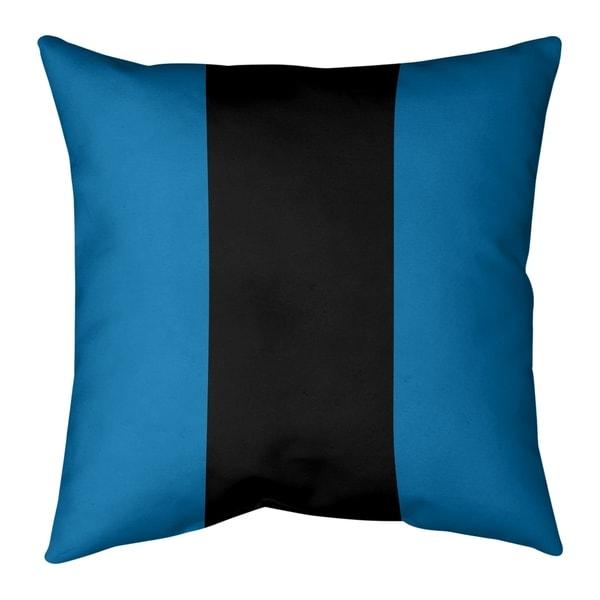Detroit Detroit Football Stripes Pillow (w/Rmv Insert)-Spun Poly