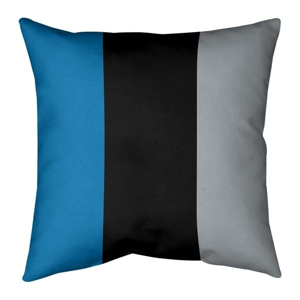 Detroit Detroit Football Stripes Pillow (Indoor/Outdoor)