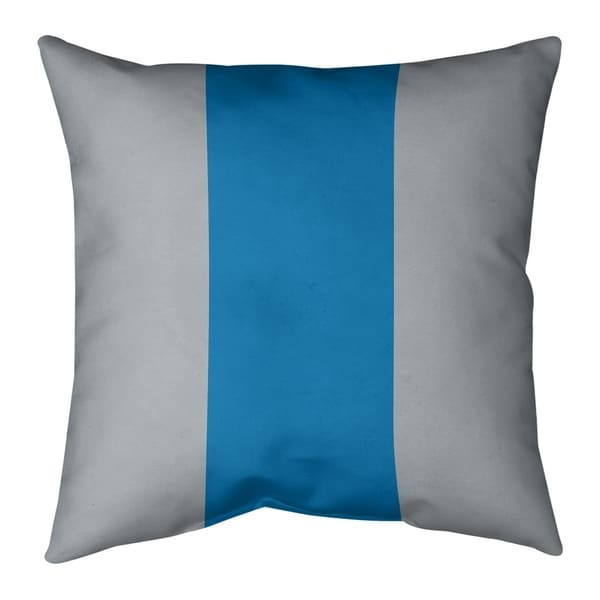Detroit Detroit Football Stripes Pillow-Faux Suede