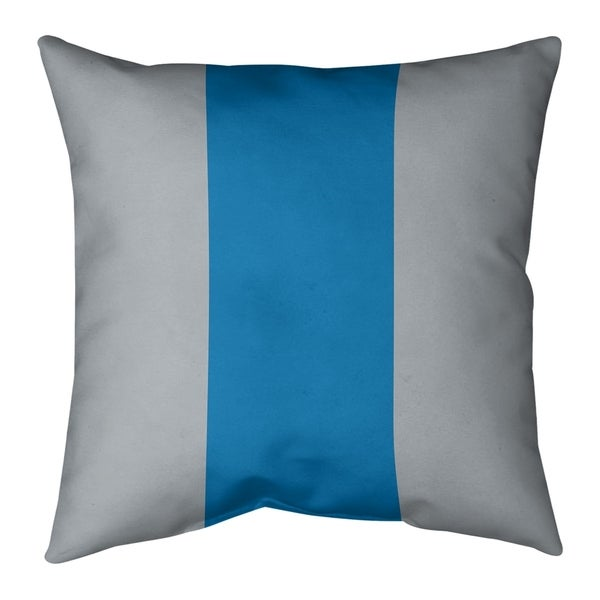 Detroit Detroit Football Stripes Pillow-Cotton Twill