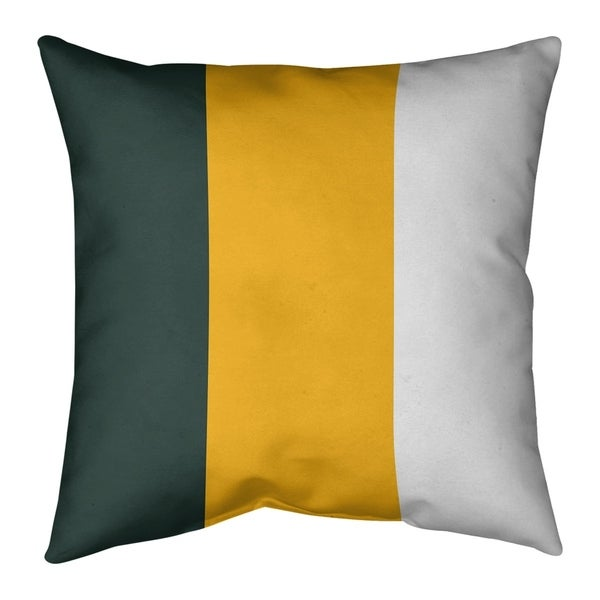 Green Bay Green Bay Football Stripes Pillow-Cotton Twill
