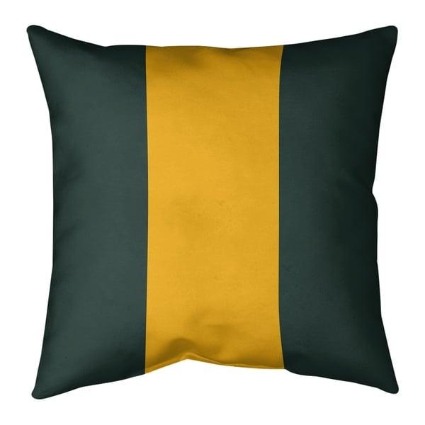 Green Bay Green Bay Football Stripes Pillow (w/Rmv Insert)-Spun Poly