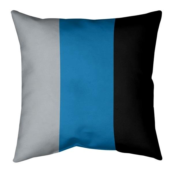 Detroit Detroit Football Stripes Pillow-Faux Suede