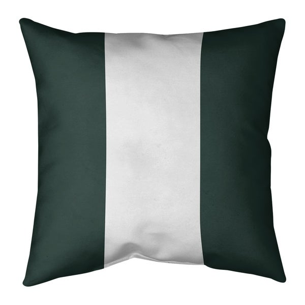 Green Bay Green Bay Football Stripes Pillow (Indoor/Outdoor)
