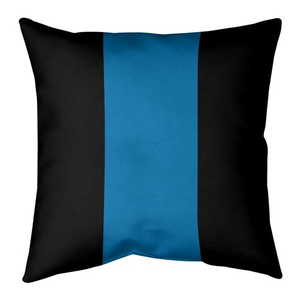 Detroit Detroit Football Stripes Pillow-Spun Polyester