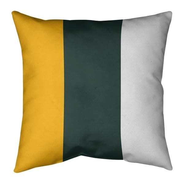 Green Bay Green Bay Football Stripes Pillow-Faux Linen