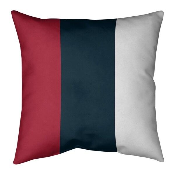 Houston Houston Football Stripes Pillow (w/Rmv Insert)-Spun Poly