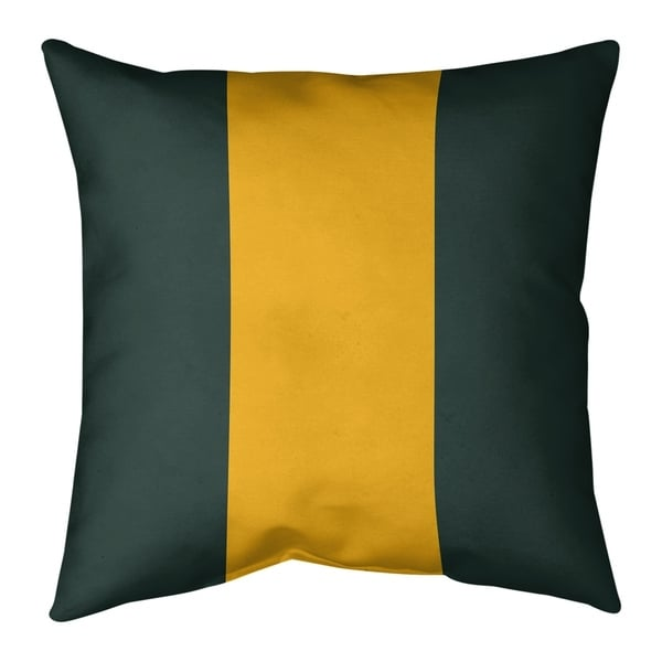 Green Bay Green Bay Football Stripes Pillow-Faux Suede