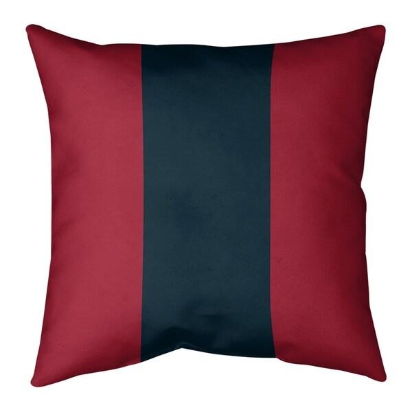 Houston Houston Football Stripes Pillow-Faux Linen