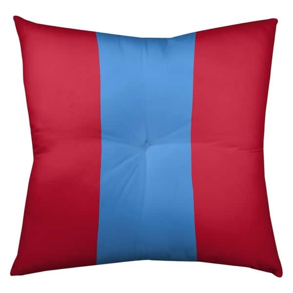 Houston Houston Throwback Football Stripes Floor Pillow Square Tufted On Sale Overstock 30283501