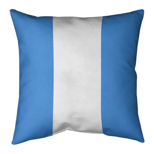 Houston Houston Throwback Football Stripes Pillow-Cotton Twill