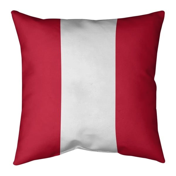 Houston Houston Throwback Football Stripes Pillow-Faux Linen