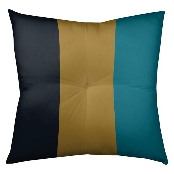 Jacksonville Jacksonville Football Stripes Floor Pillow - Square Tufted