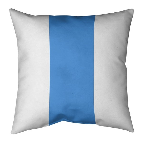 Houston Houston Throwback Football Stripes Pillow-Cotton Twill