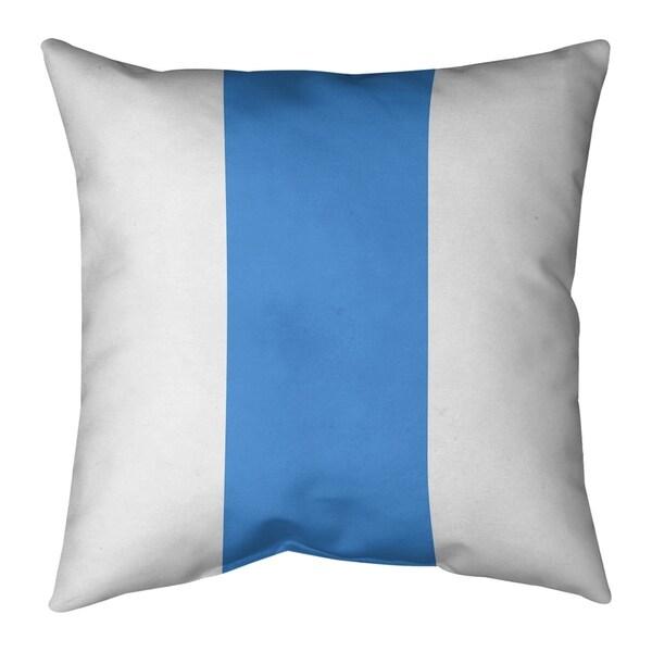 Houston Houston Throwback Football Stripes Pillow-Faux Linen