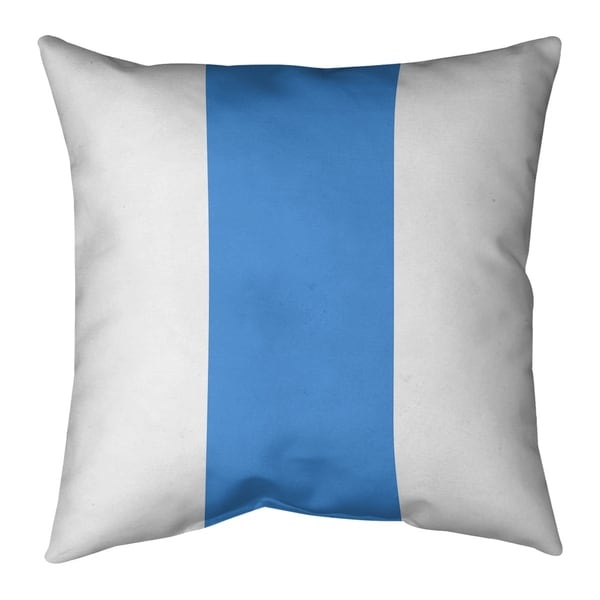 Houston Houston Throwback Football Stripes Pillow-Faux Suede