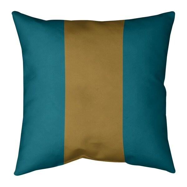 Jacksonville Jacksonville Football Stripes Pillow-Cotton Twill