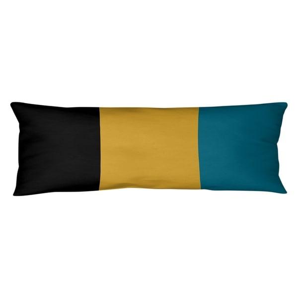 Jacksonville Jacksonville Throwback Football Stripes Body Pillow (w/Rmv Insert)