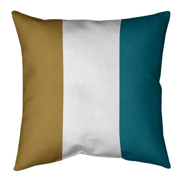 Jacksonville Jacksonville Football Stripes Pillow-Faux Linen