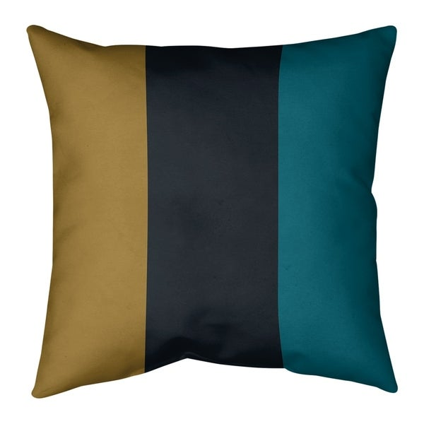 Jacksonville Jacksonville Football Stripes Pillow-Spun Polyester