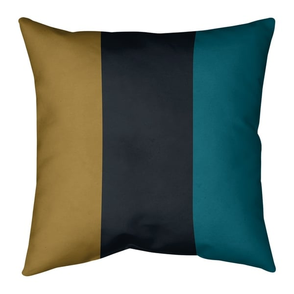 Jacksonville Jacksonville Football Stripes Pillow-Cotton Twill