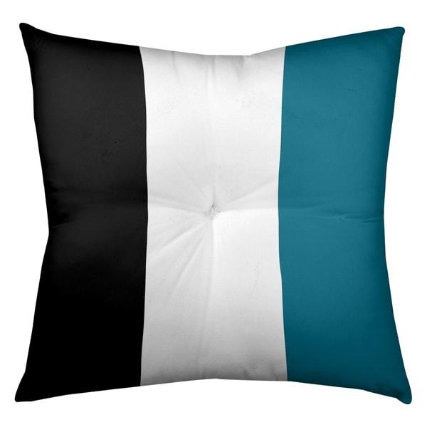 Jacksonville Jacksonville Throwback Football Stripes Floor Pillow - Square Tufted