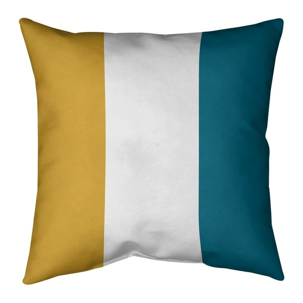 Jacksonville Jacksonville Throwback Football Stripes Pillow-Faux Suede