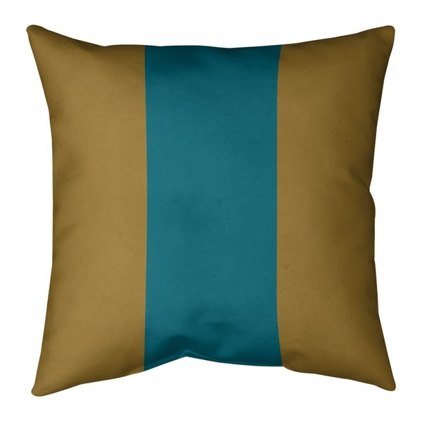 Jacksonville Jacksonville Football Stripes Pillow (w/Rmv Insert)-Spun Poly