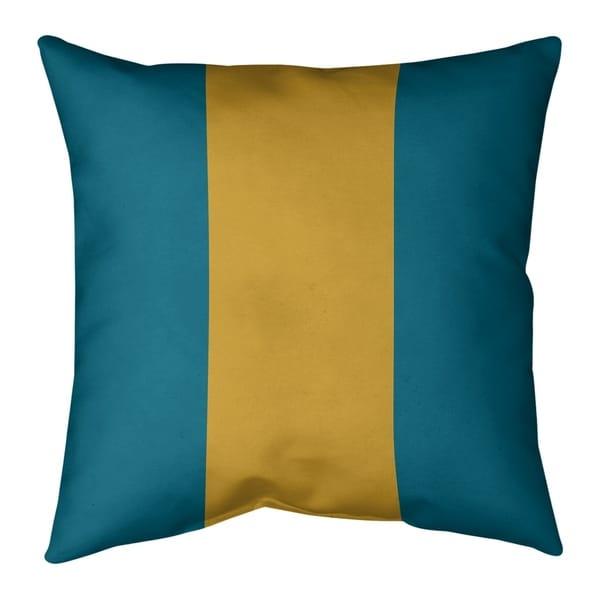 Jacksonville Jacksonville Throwback Football Stripes Pillow (Indoor/Outdoor)