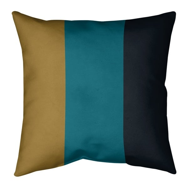 Jacksonville Jacksonville Football Stripes Pillow-Faux Linen
