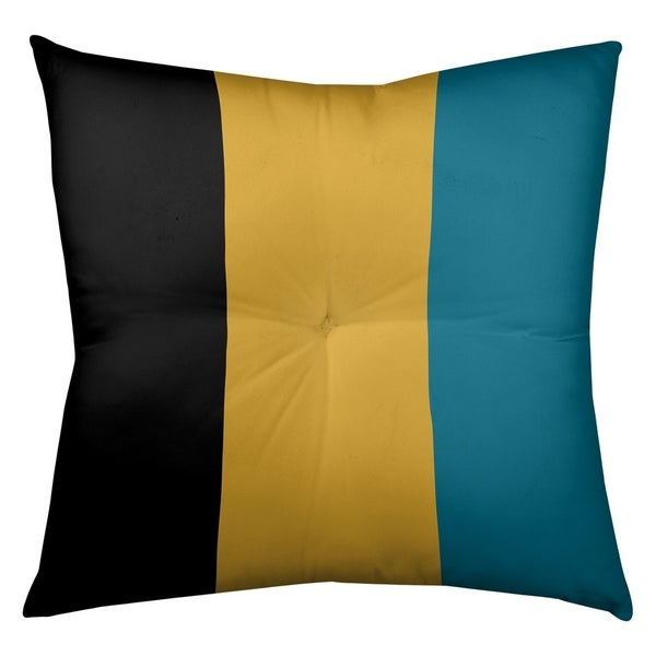 Jacksonville Jacksonville Throwback Football Stripes Floor Pillow - Square Tufted