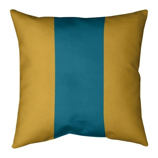 Jacksonville Jacksonville Throwback Football Stripes Pillow (w/Rmv Insert)-Spun Poly